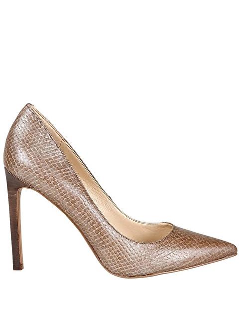 Nine West Deri Stiletto Ayakkabı Gri